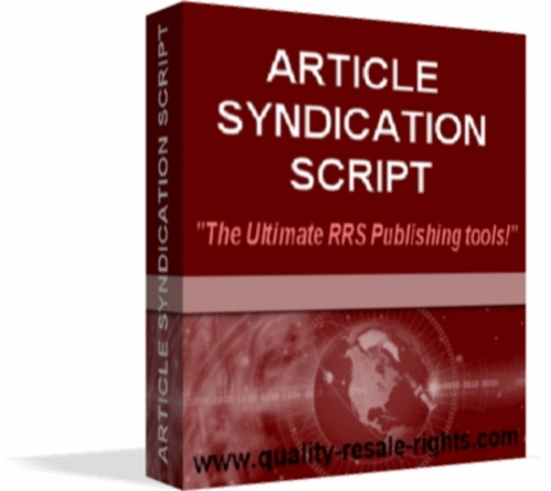 Product picture Article Syndication Script
