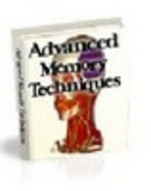 Product picture ADVANCED MEMORY TECHNIQUES